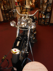 This is an Elvis style H.D. with a tank shifter.